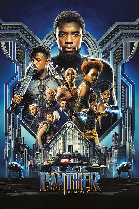 Макси плакат Pyramid - Black Panther (One Sheet) - 1