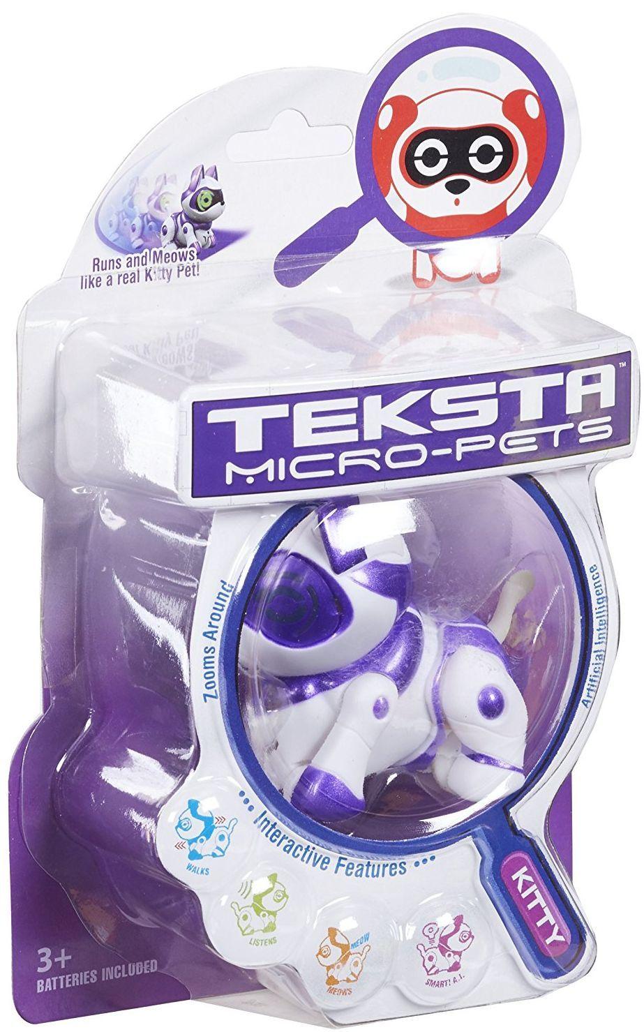 Интерактивна играчка Manley TEKSTA Micro Pets - Робот, Коте - 4