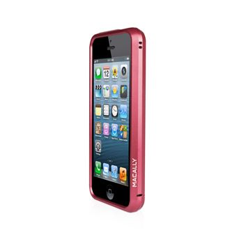 Macally Aluminium Frame за iPhone 5 -  червен - 9