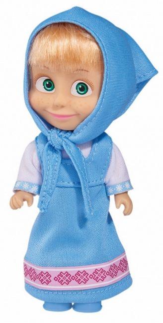Кукла Simba Toys - Маша със синя рокля и забрадка - 1