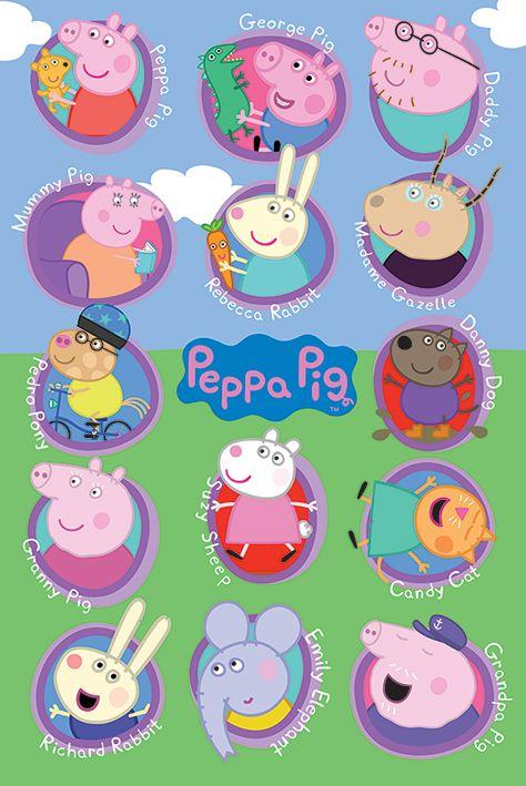 Макси плакат Pyramid - Peppa Pig (Multi Characters) - 1