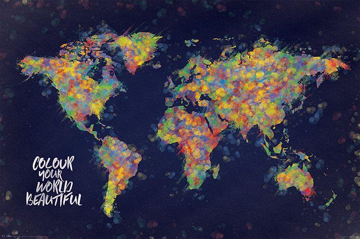 Макси плакат Pyramid - Colour Your World Beautiful - 1