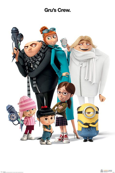 Макси плакат Pyramid - Despicable Me 3 (Gru's Crew) - 1
