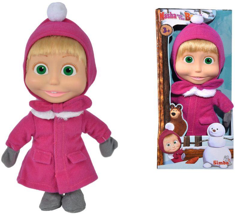 Кукла Simba Toys Маша и мечока - Маша, със зимна премяна, 23 cm - 3