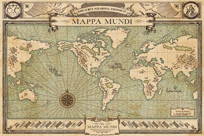 Макси плакат Pyramid - Fantastic Beasts (Mappa Mundi) - 1