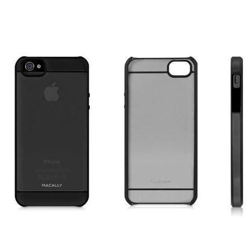Macally See-Thru Hard Shell Case  за iPhone 5 -  черен-прозрачен - 2