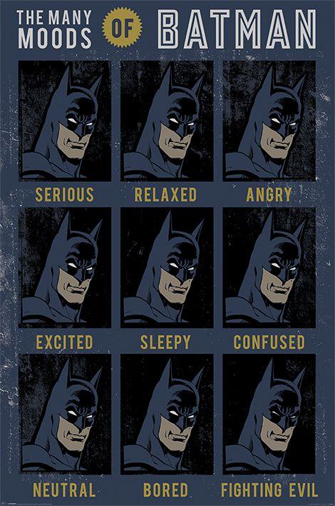Макси плакат Pyramid - DC Originals (The Many Moods Of Batman) - 1