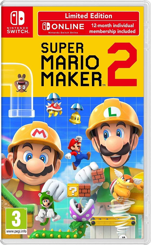 Super Mario Maker 2 + 12 месеца Nintendo Switch Online (Nintendo Switch) - 1