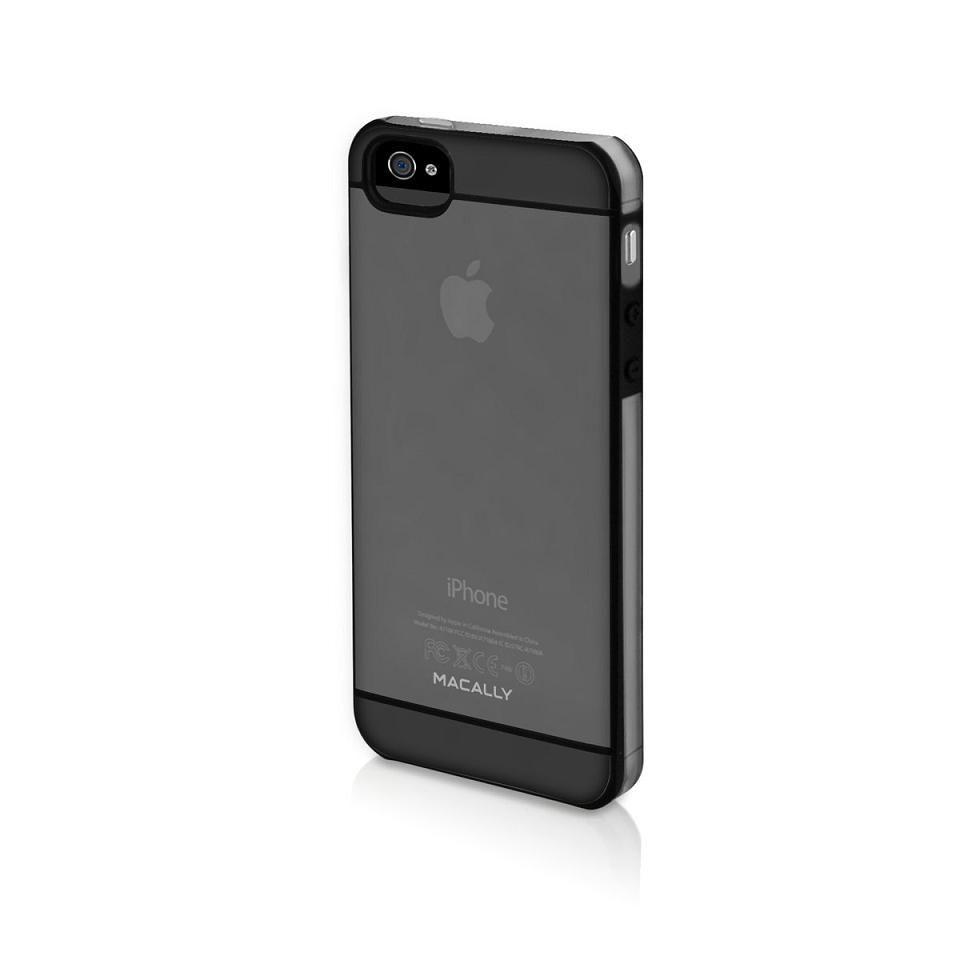 Macally See-Thru Hard Shell Case  за iPhone 5 -  черен-прозрачен - 1