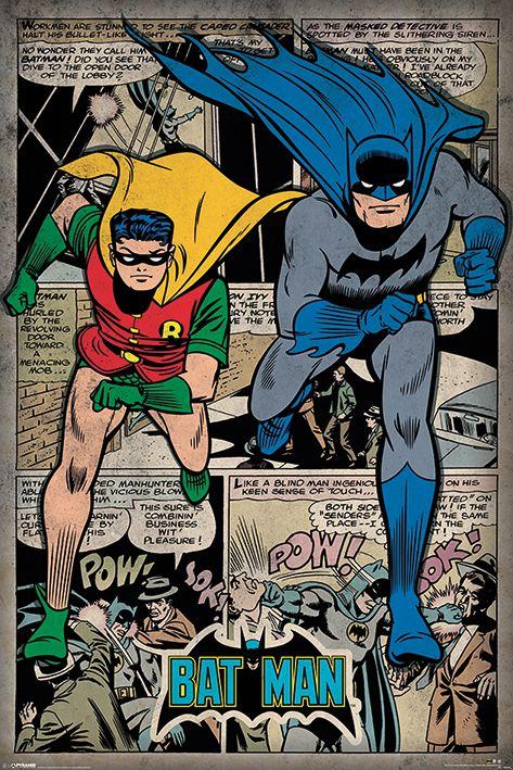 Макси плакат Pyramid - Batman (Comic Montage) - 1