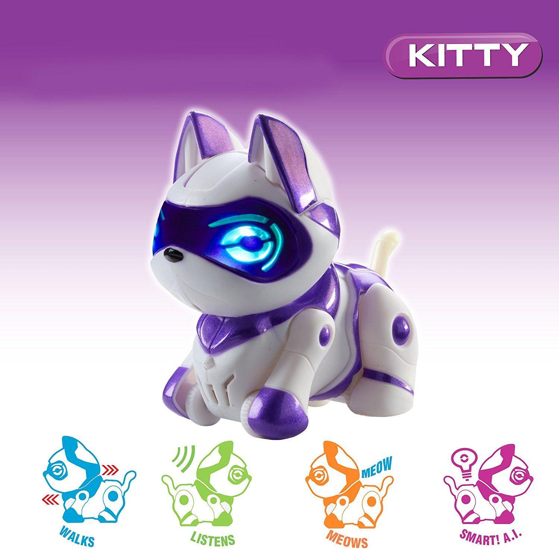 Интерактивна играчка Manley TEKSTA Micro Pets - Робот, Коте - 5