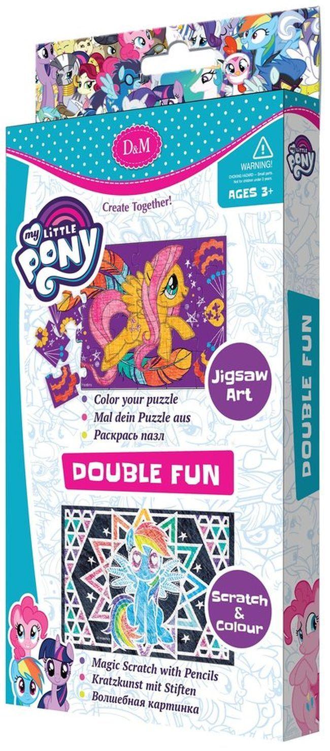 Творчески комплект Revontuli Toys Oy - Пъзел и гравиране, двоен, Моето малко пони - 1
