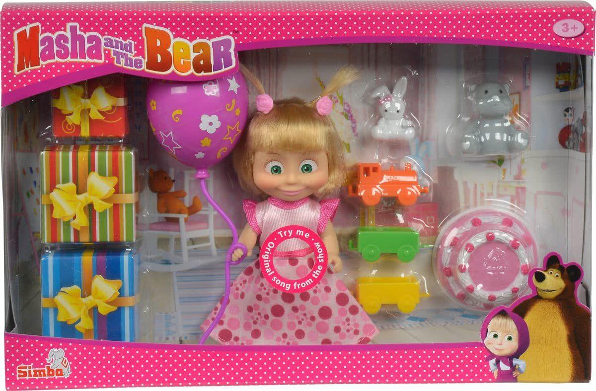 Кукла Simba Toys Маша и Мечока - Маша, Сет рожден ден - 3