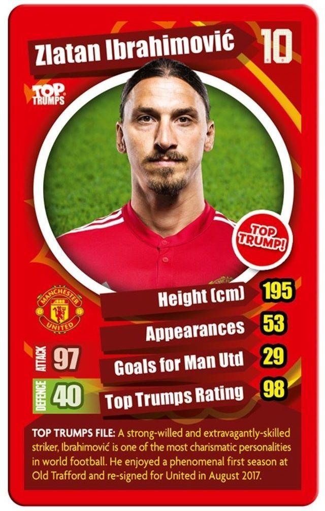 Игра с карти Top Trumps - Manchester United FC - 2