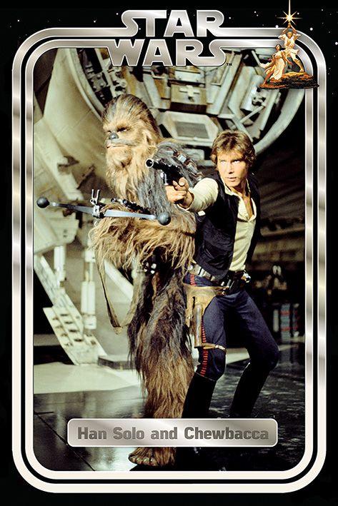 Макси плакат Pyramid - Star Wars Classic (Han and Chewie Retro) - 1