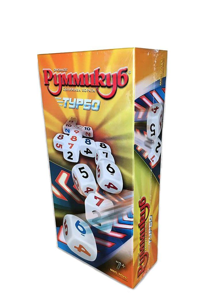 Настолна игра MBG Toys - Румми куб Турбо - 1