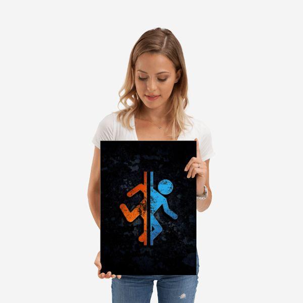 Метален постер Displate - Portal 2 - 2