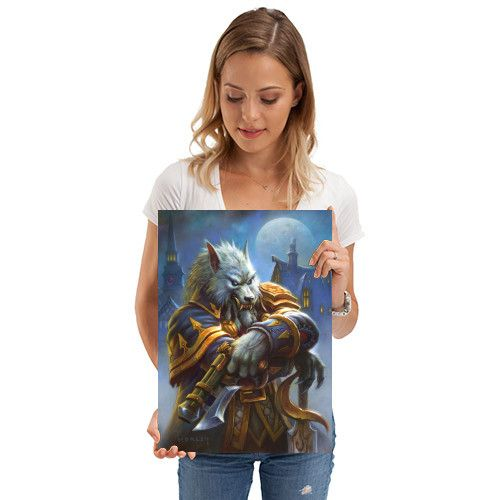Метален постер Displate - Hearthstone: Genn Greymane - 2