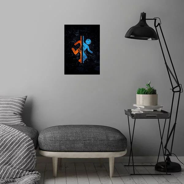 Метален постер Displate - Portal 2 - 3
