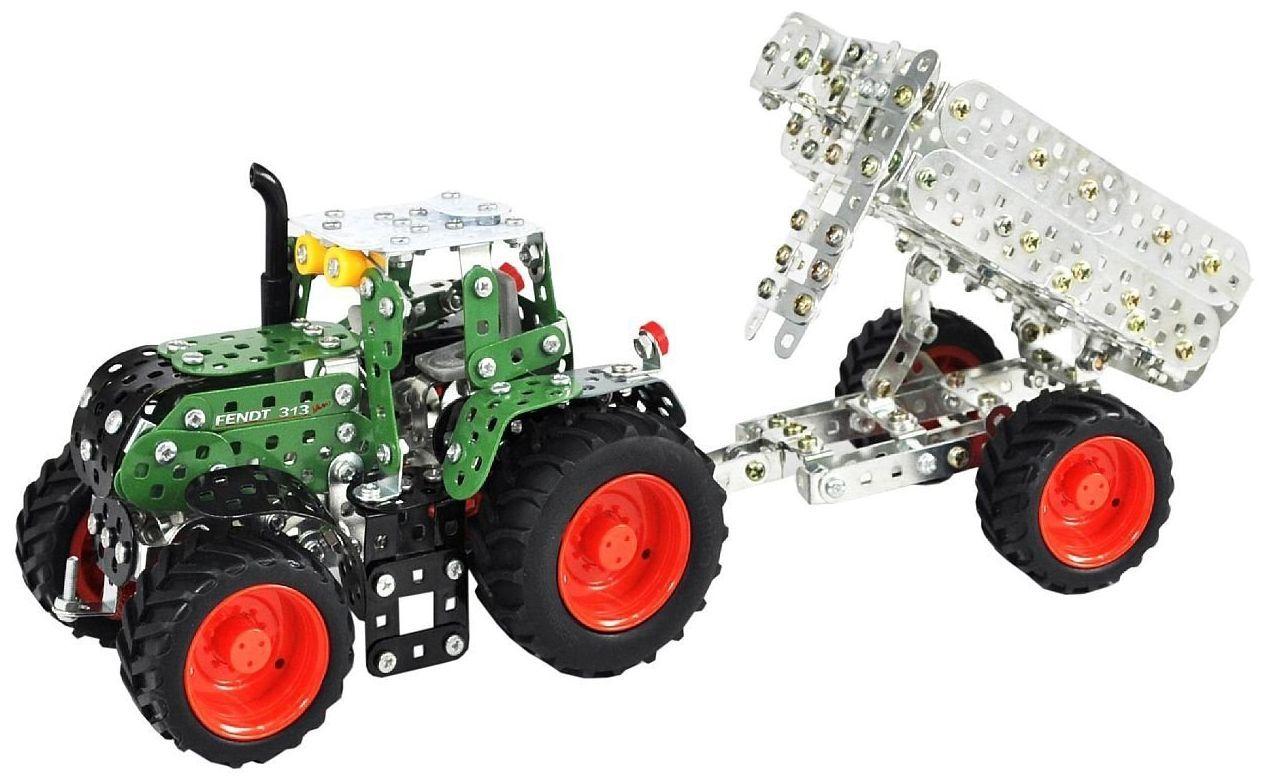 Метален конструктор Tronico - Мини серия, трактор с ремарке Fendt 313 Vario - 1