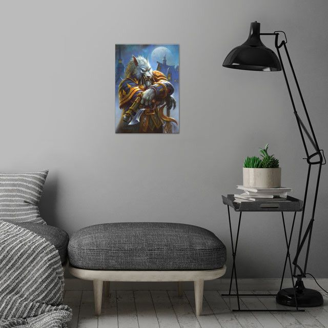 Метален постер Displate - Hearthstone: Genn Greymane - 4
