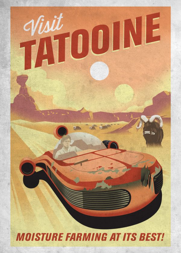 Метален постер Displate - Star Wars: Visit Tatooine - 1