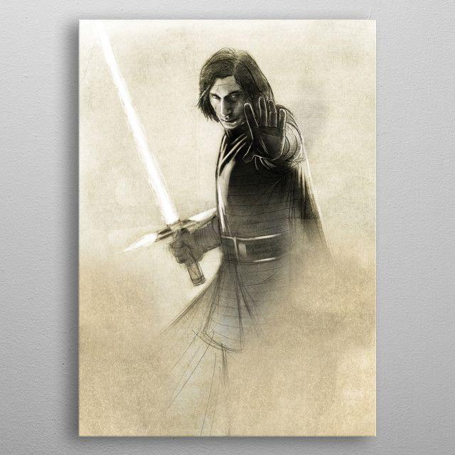Метален постер Displate - Star Wars: Kylo Ren - 3