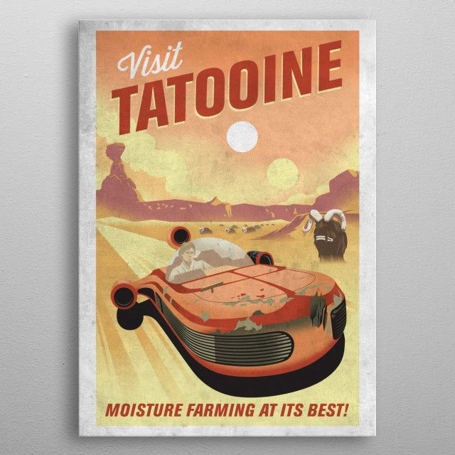 Метален постер Displate - Star Wars: Visit Tatooine - 3