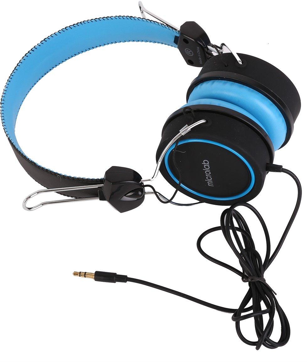 Слушалки Microlab K300 - черни/сини - 2