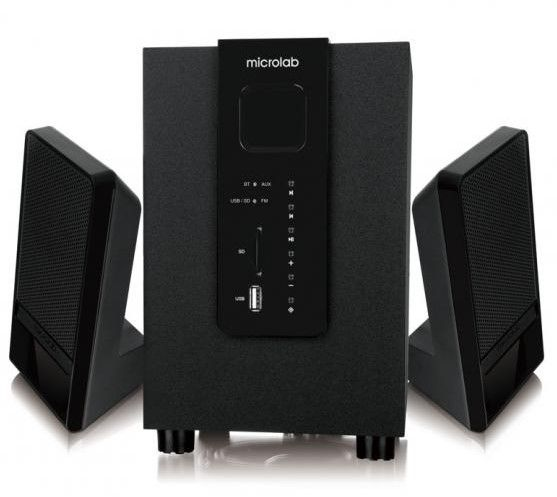 Аудио система Microlab M-100BT - 2.1, Bluetooth, черна - 1