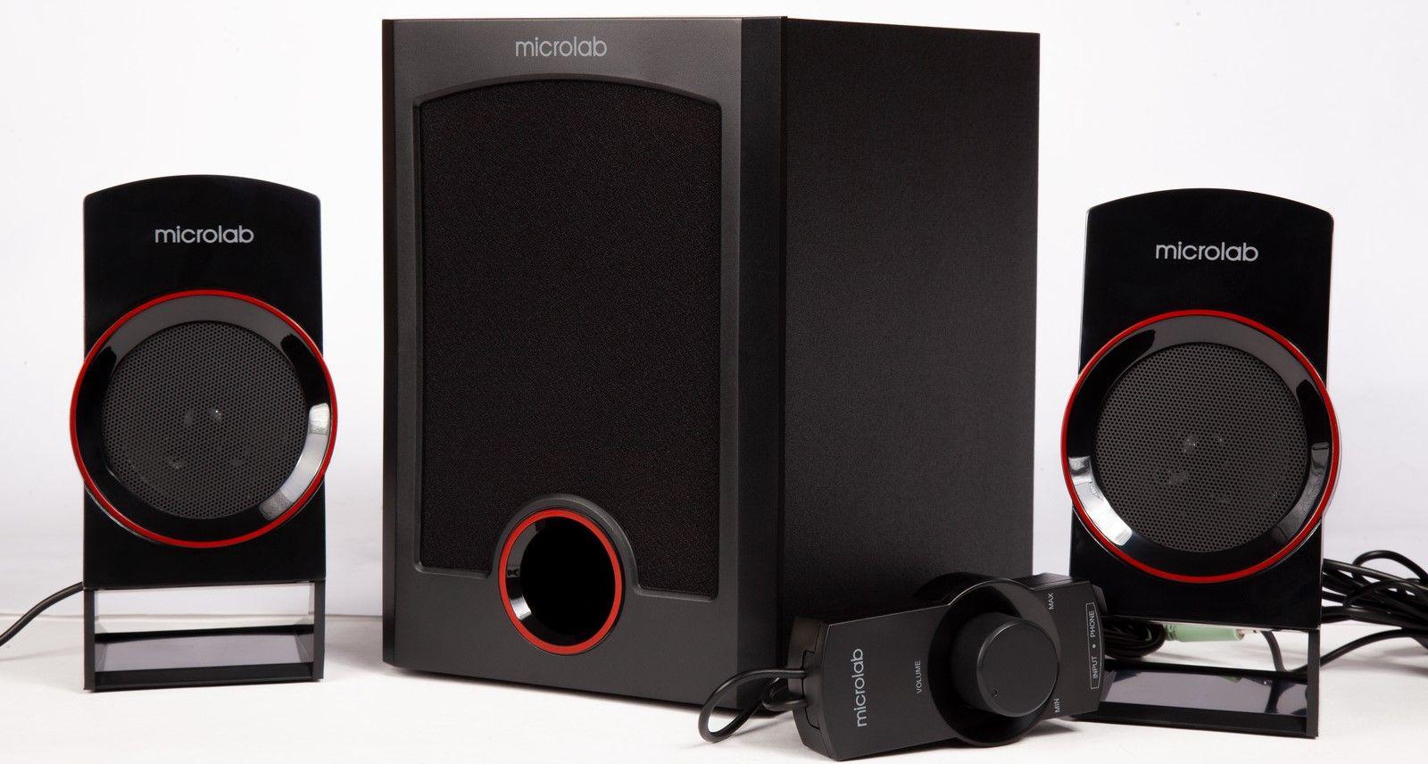 Аудио система Microlab M111 - 2.1, черна - 1