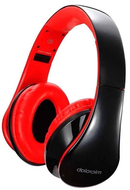 Слушалки с микрофон Microlab K360 - черни/червени - 1