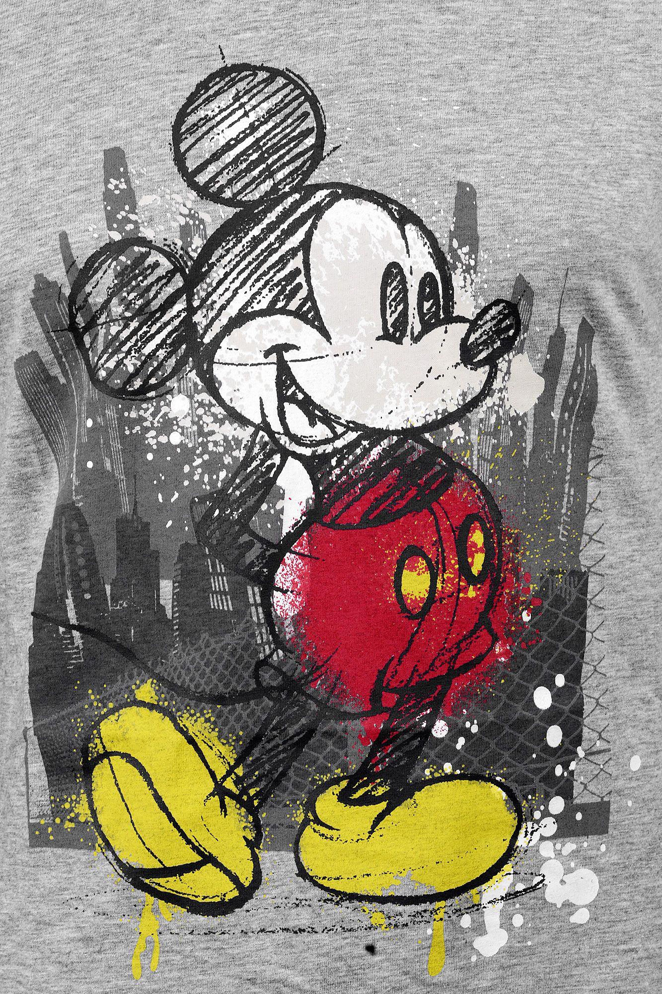 Тениска Micky Mouse - Tap, сива, размер L - 3