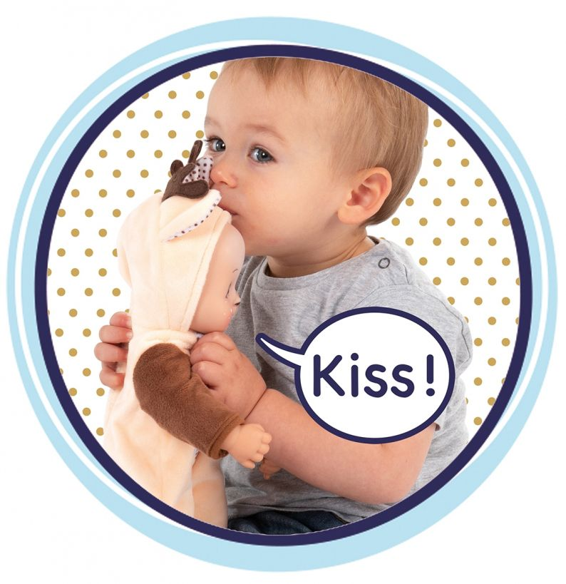 Кукла раздаваща целувки Smoby MiniKiss Animal - Еленче, 30 cm - 3