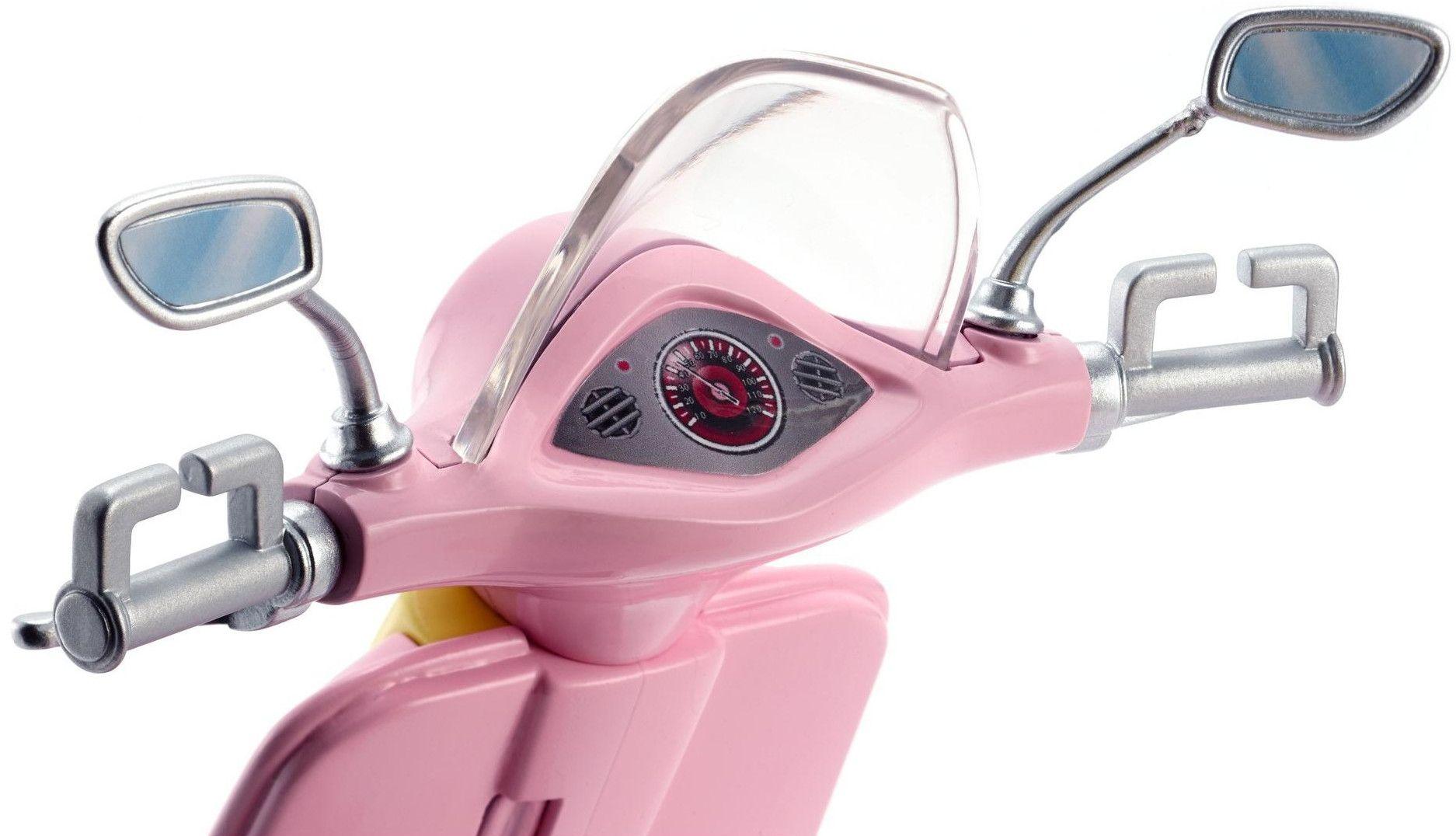 Игрален комплект Mattel Barbie - Мотопед с кученце - 2