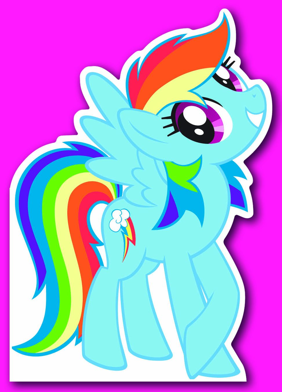 Поздравителна картичка Danilo - My Little Pony: Die-Cut Card - 1
