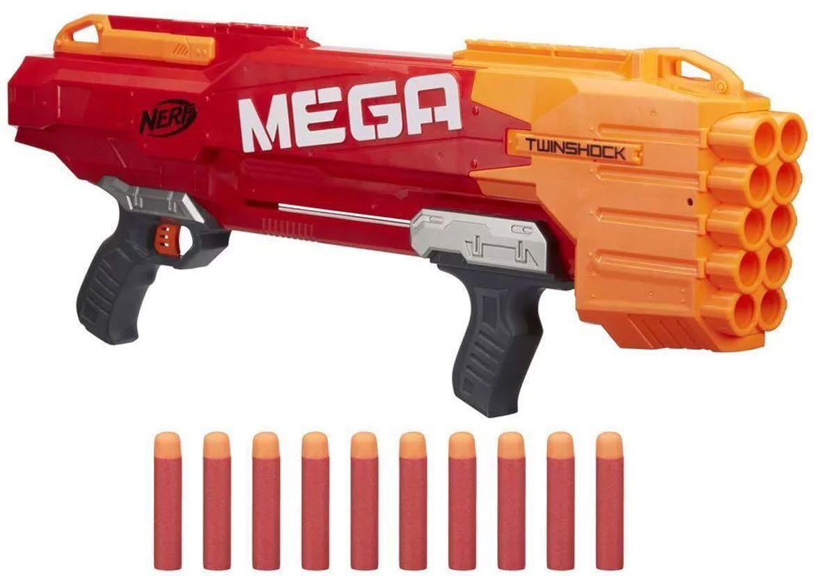 Бластер Hasbro Nerf - N-Strike Mega TwinShock - 1