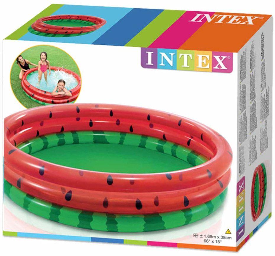 Детски надуваем басейн Intex - Диня, 168 x 38 cm - 2