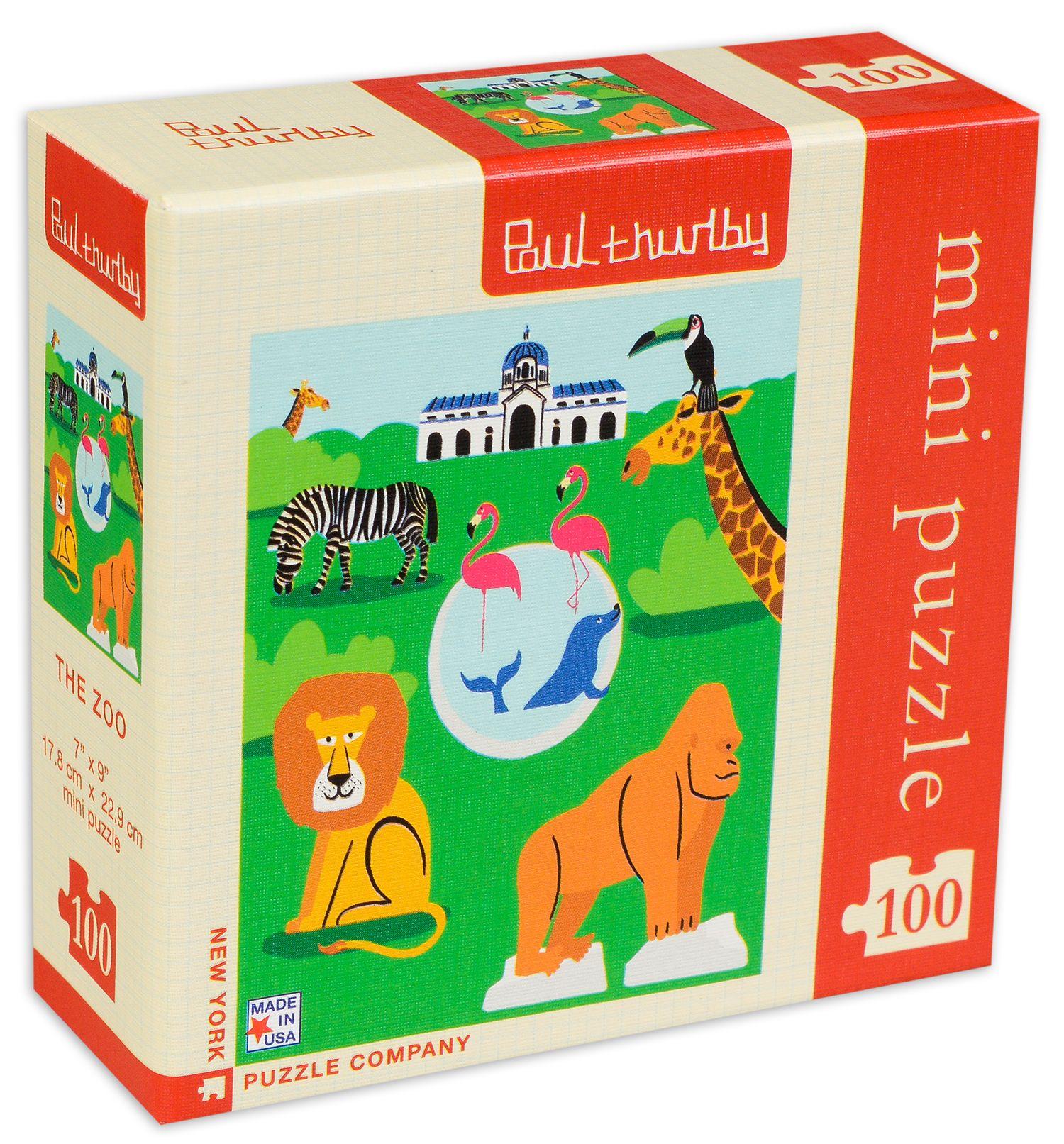 Мини пъзел New York Puzzle от 100 части - Зоологическа градина - 2