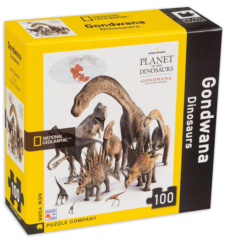 Мини пъзел New York Puzzle от 100 части - Динозаври - 2