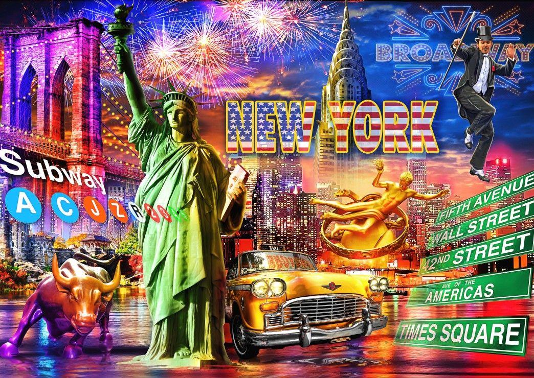 Пъзел Bluebird от 3000 части - Ню Йорк - 1
