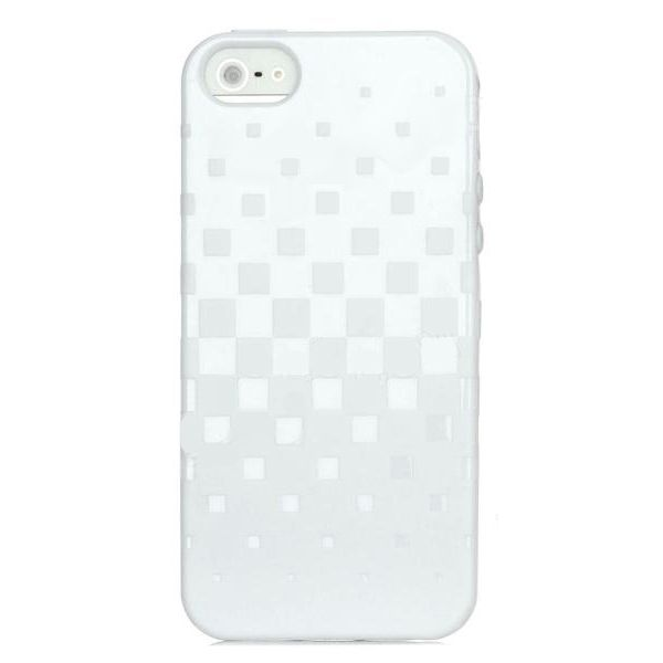 Newtons Square Grid TPU Case за iPhone 5 -  бял - 1
