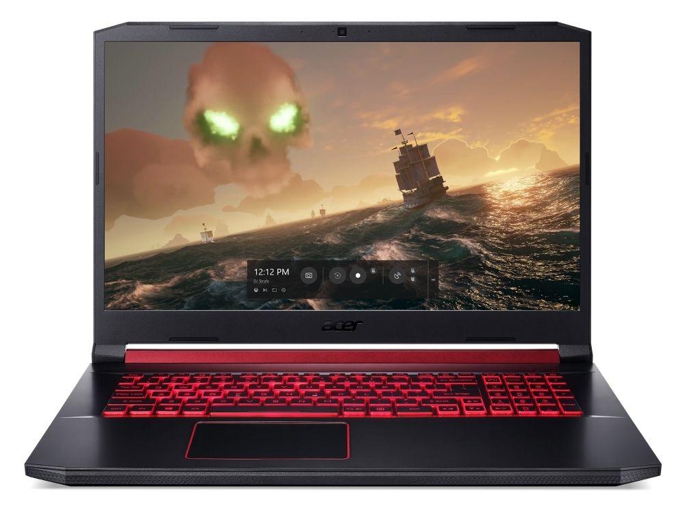 Геймърски лаптоп Acer Nitro 5 - AN517-51-73W9, черен - 1