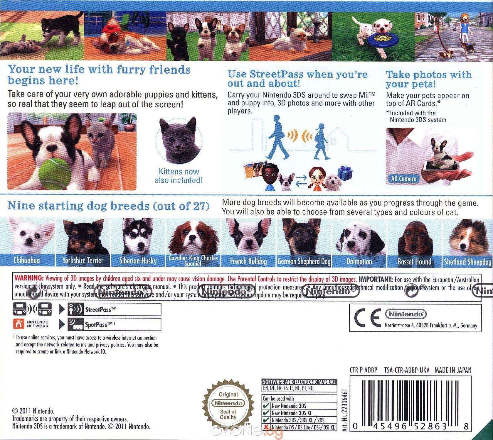 Nintendogs + Cats - French Bulldog (3DS) - 3