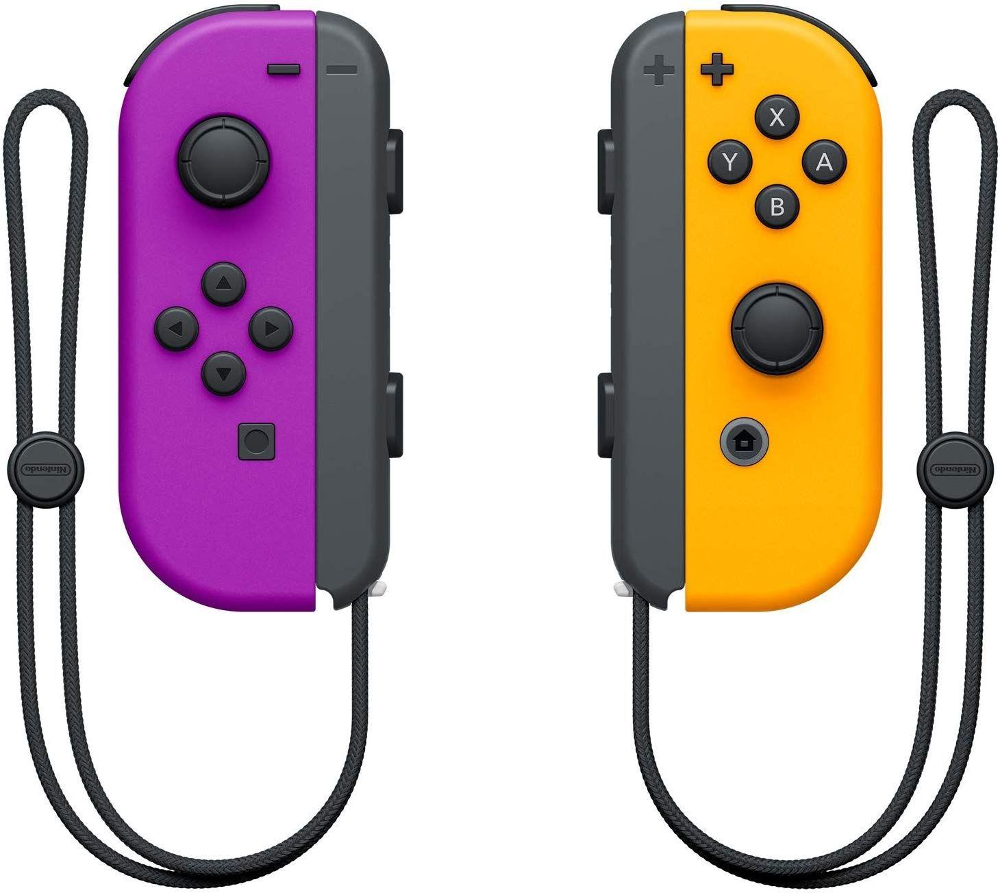 Nintendo Switch Joy-Con (комплект контролери) лилаво/оранжево - 3