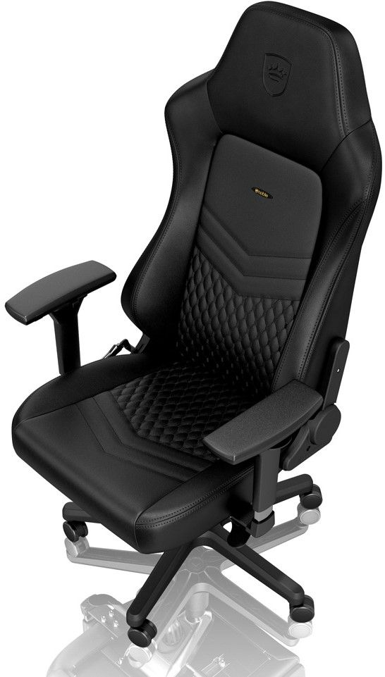Гейминг стол noblechairs HERO - естествена кожа, черен - 3