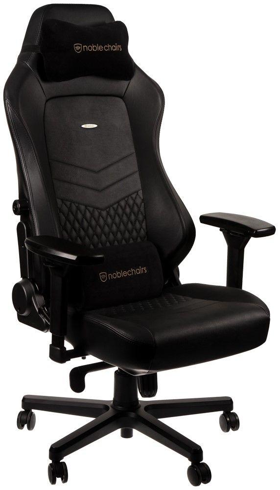 Гейминг стол noblechairs HERO - естествена кожа, черен - 1