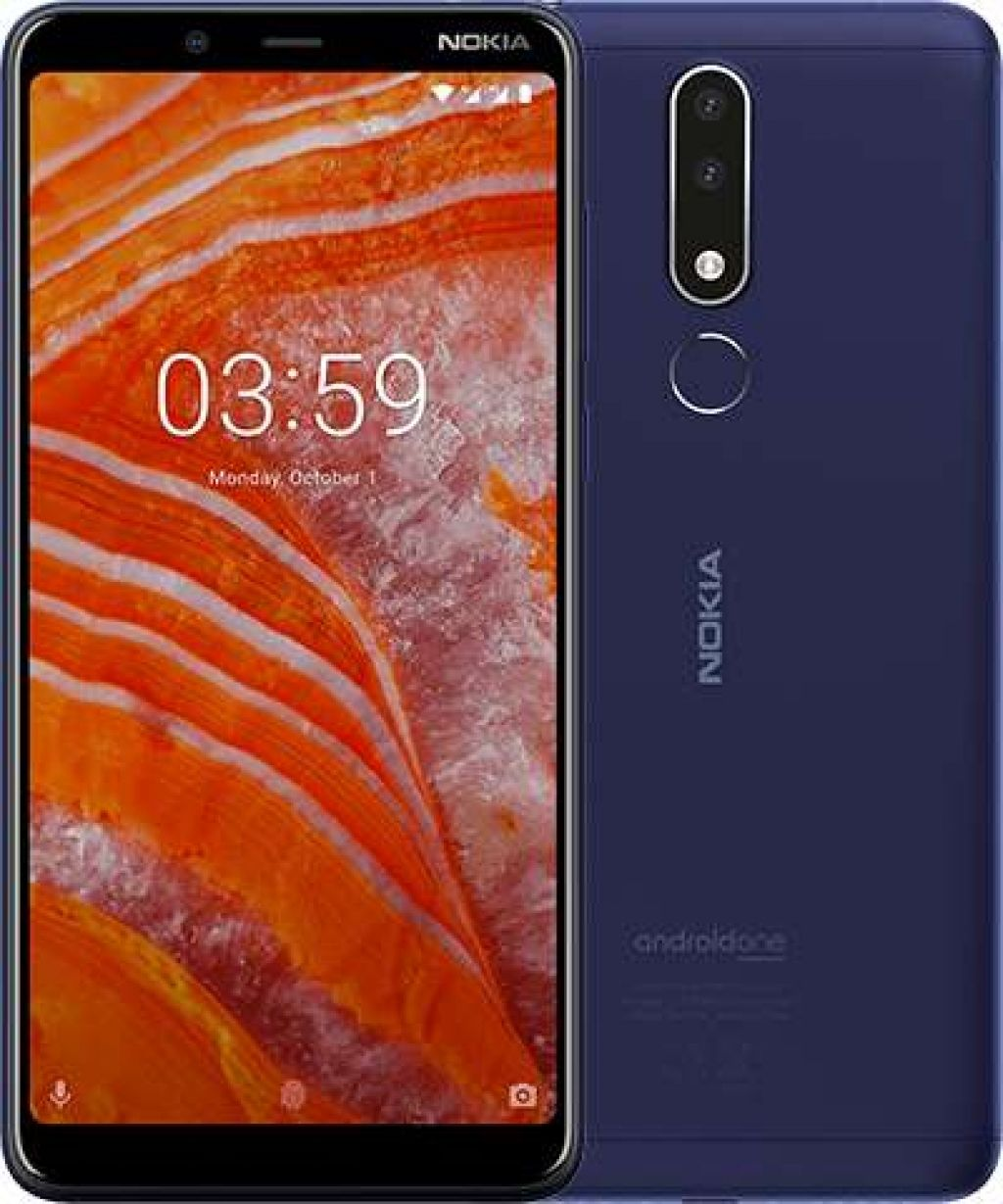 "Смартфон NOKIA 3.1 PLUS DS - 6"", 16GB, син - 1"