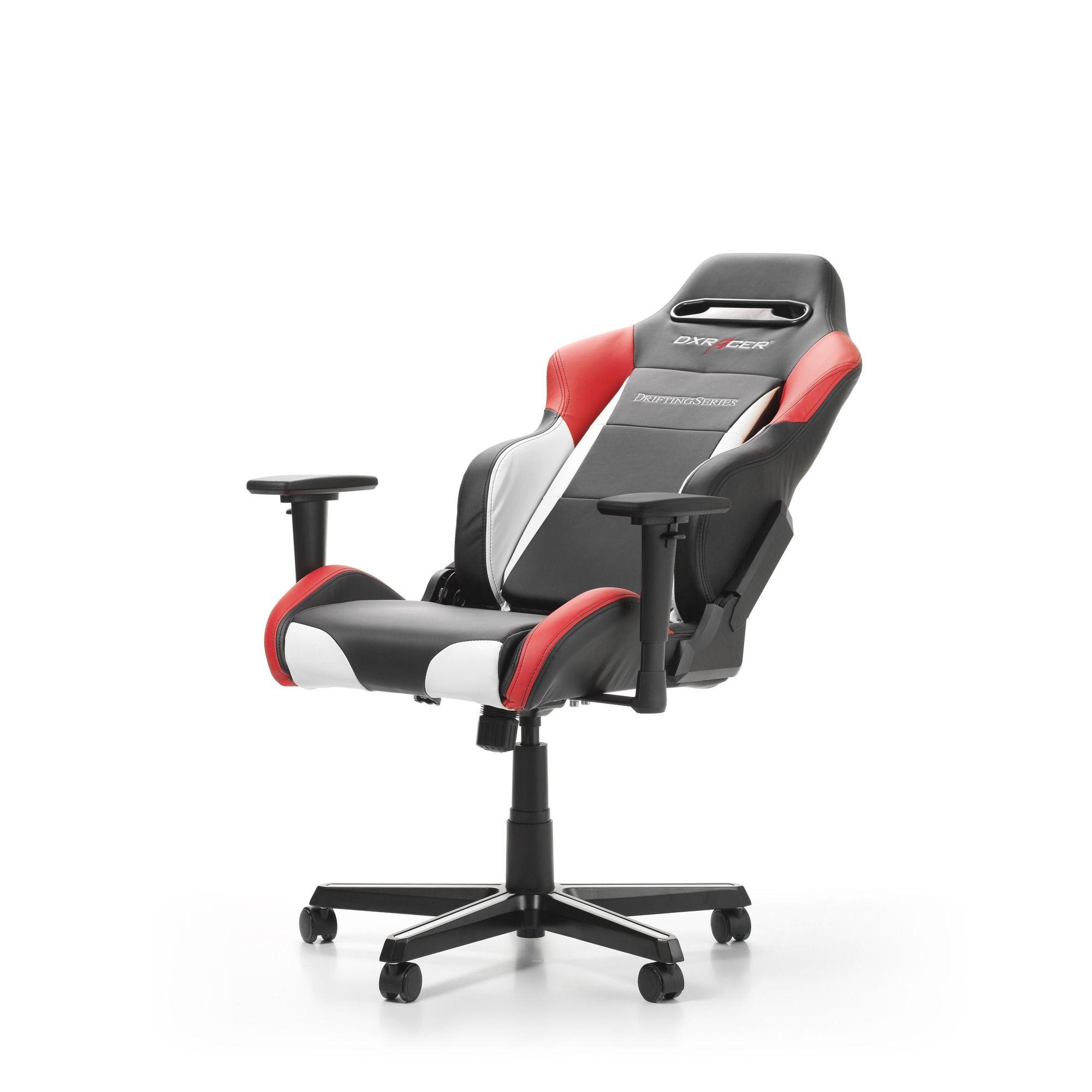 Геймърски стол DXRacer - серия DRIFTING, черен/бял/червен - OH/DM61/NWR - 6