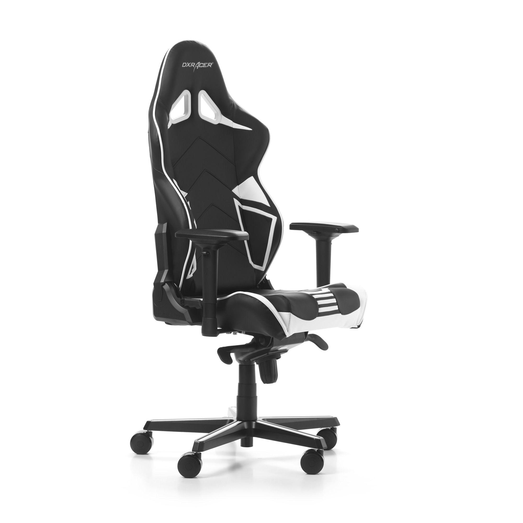 Гейминг стол DXRacer OH/RV131/NW - серия RACING V2, черен/бял - 10